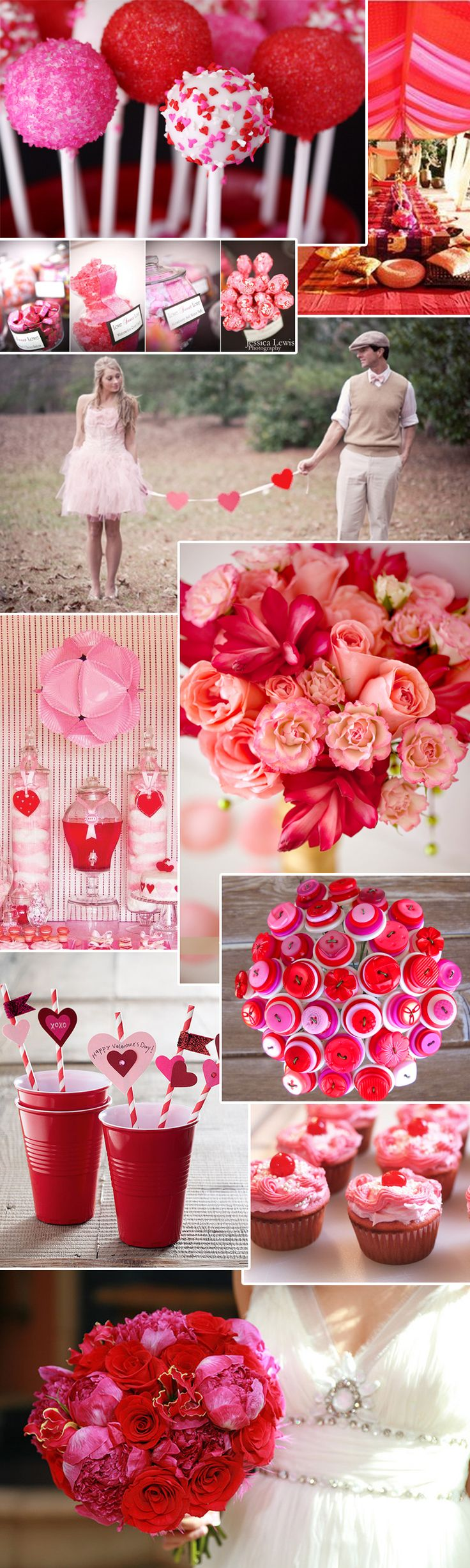 Pink + Red Weddings