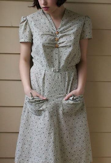 Vixen Vintage 1930s Farm Dress. Du Barry