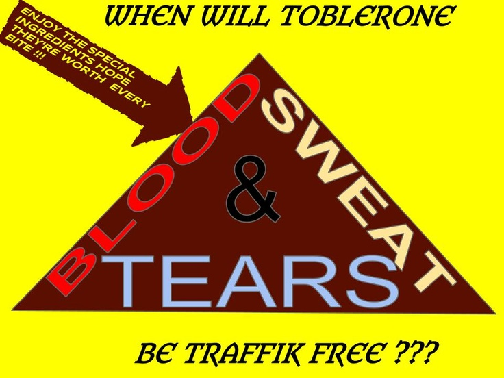 "Ask Kraft ""When will Toblerone be Traffik-Free?"" STOP THE TRAFFIK competition entry by Siobhan Cleary"