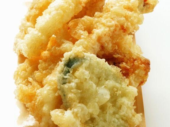 Frittierte Meeresfrüchte und Gemüse (Tempura) ist ein Rezept mit frischen Zutaten aus der Kategorie Garnelen. Probieren Sie dieses und weitere Rezepte von EAT SMARTER!