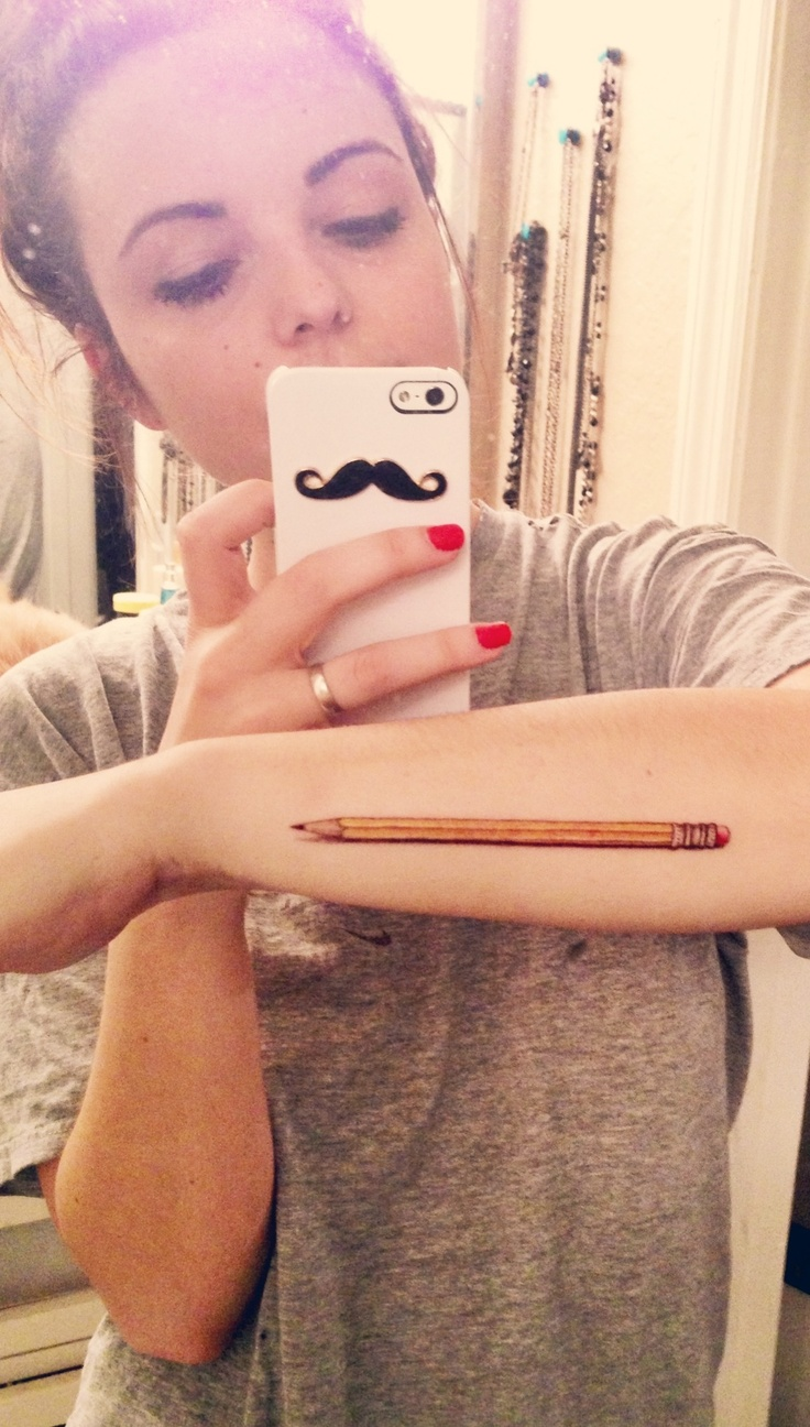 I'm definitely getting this tattoo on my 18th birthday to represent my passion for drawing