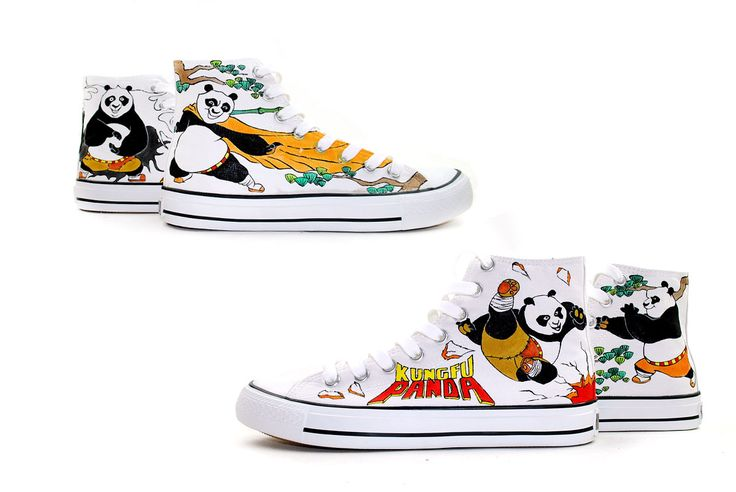 Kong Fu Panda hand painted shoes  www.shoemycolor.com