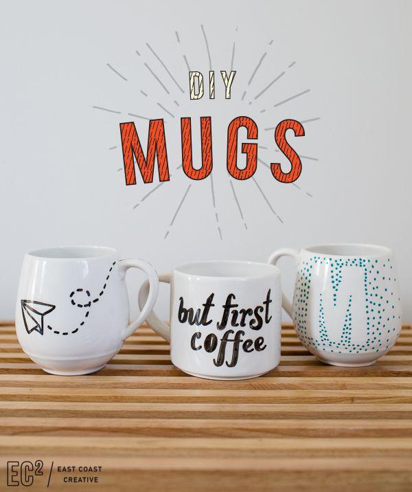DIY Mugs: Make it Yourself Holiday Gift Ideas