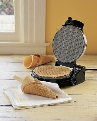 Ice-Cream! Chef'sChoice Waffle Cone Maker #williamssonoma