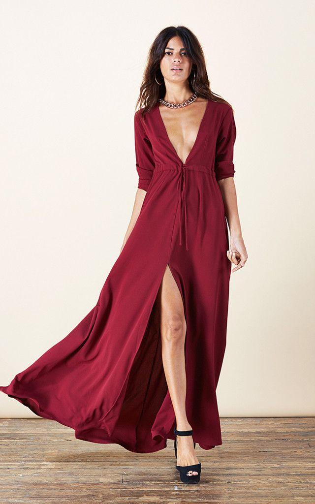 Silkfred red dress 80s