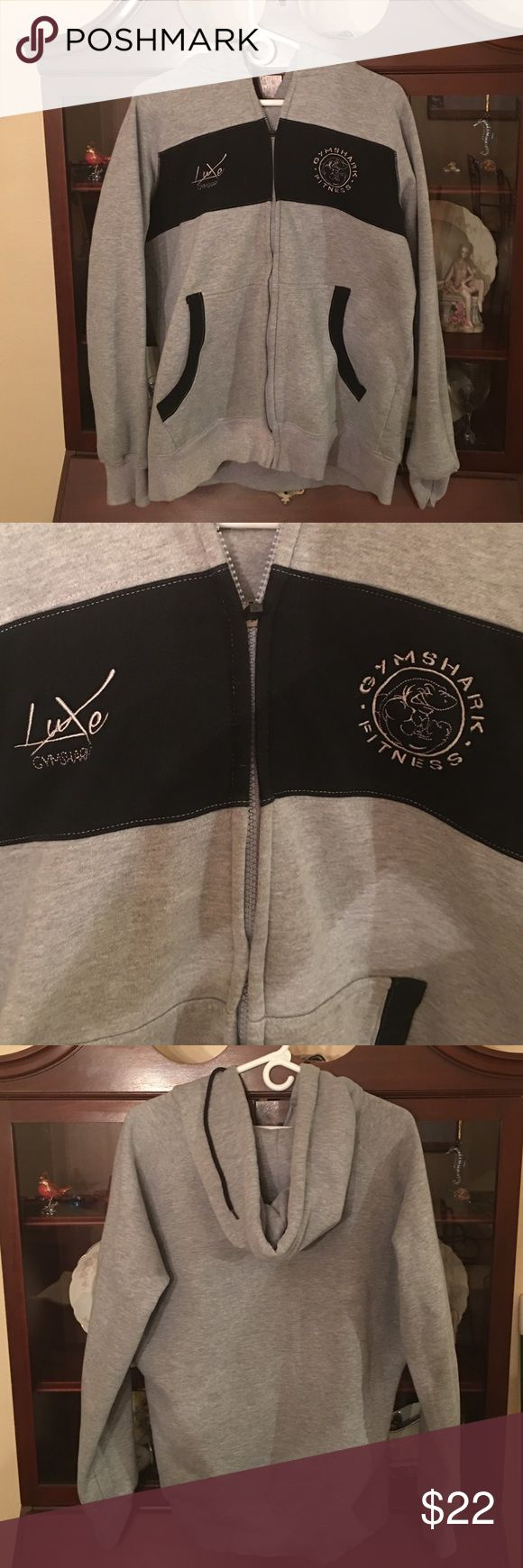 Men's XL hoodie Gymshark XL men's hoodie. Gymshark Fitness. Excellent condition. Zip up front with pockets. Grey and black Gymshark Shirts Sweatshirts & Hoodies