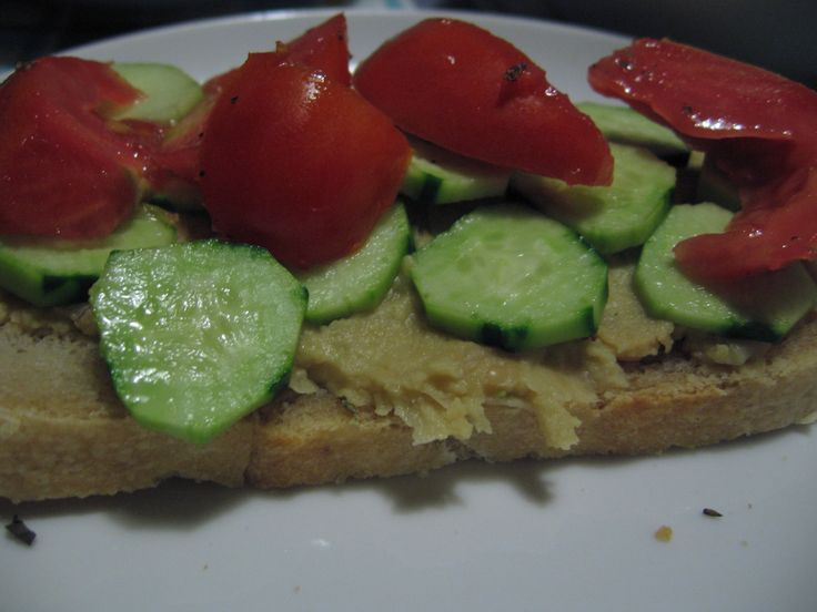 tuscan stone milled flour, sourdough bread for this simple but tastiest panino with sort of domesticated hummus with fresh cropped herbs, cucumber and tomatoes from our orto