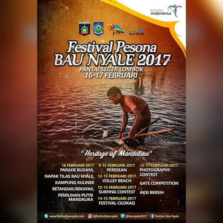 Pesta Bau Nyale adalah sebuah peristiwa dan tradisi yang sangat melegenda dan mempunyai nilai sakral tinggi bagi suku Sasak, suku asli pulau Lombok. Keberadaan pesta Bau Nyale ini berkaitan erat dengan sebuah cerita rakyat yang berkembang di daerah...
