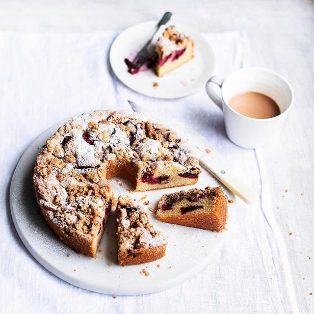 Shaping up to be a busy weekend for me! Teaching a class for @greatormondst this afternoon and then heading to the Peak District for the wonderful @chatsworthofficial food festival. A slice of plum streusel cake is most definitely in order - find my recipe in the weeks #WaitroseWeekend or on the Waitrose website #BakingMartha #BusyWeekend