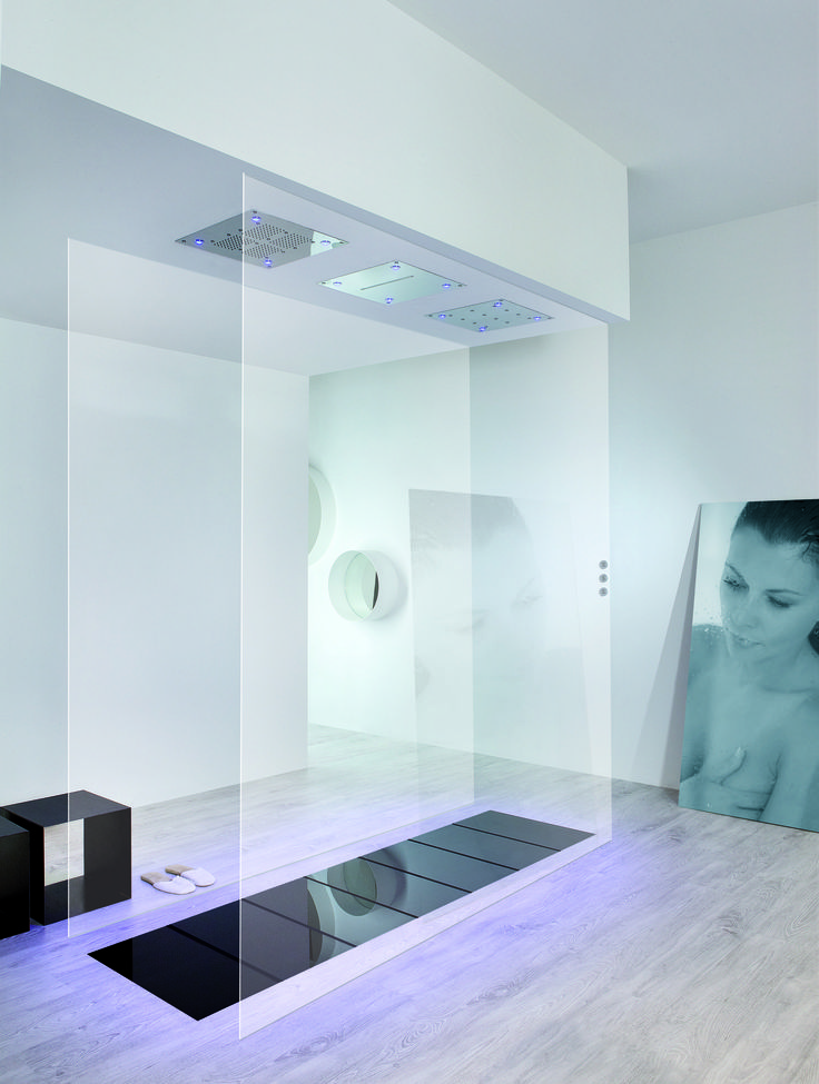 This unique shower can become a part of your home.