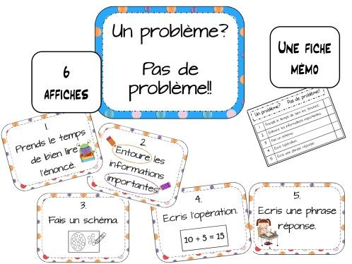 un affichage pour la résolution de problème. Surotut pour les CE1, mais aussi pour les CP dans la seconde partie de l'année! Polices: architect's daughter, never say never clip art: my cute graphics, scrappin doodles, creative clips