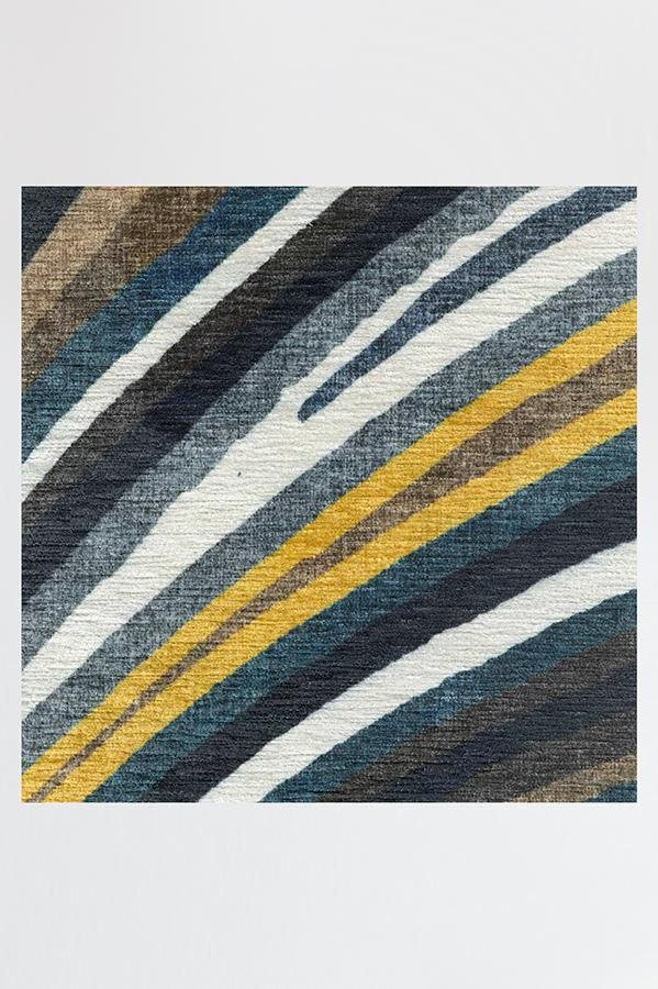 Ruggable Washable Rug Cover Pad Agate Golden Azure Rug