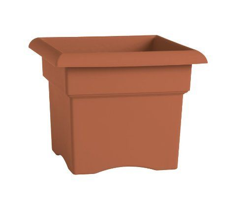 Fiskars 57014C 14-Inch Veranda Square Planter Box, Color Clay by Fiskars. $11.67. Sturdy and lightweight. Made with high-quality color pigments and UV additives to withstand the elements. Won't crack, break or fade. Ideal for a wide range of indoor or outdoor arrangements including mixed flowers, vegetables and more. Punch-out drainage holes. Thick walls improve strength for lasting durability. Large enough to accommodate several grower pots. Durable, lightweight resin con...