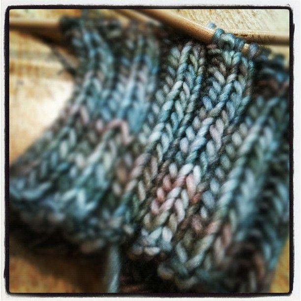 grey pastels (Manos del Uruguay fair trade yarn, silk/merino blend --> lush!)