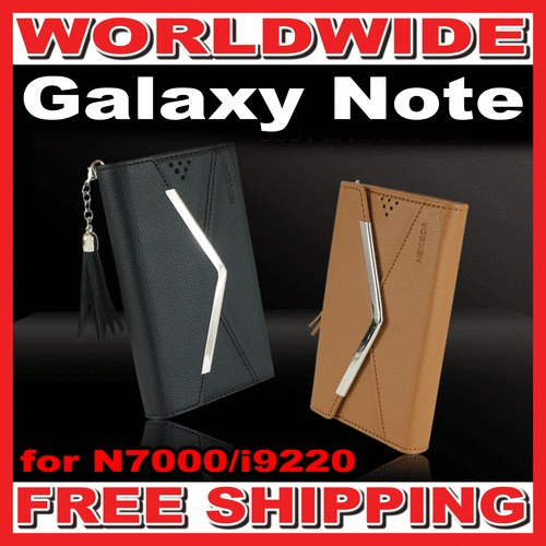 Leather Flip Wallet Mirror Clutch Case Cover for Galaxy Note N7000/i9220  US $29.99