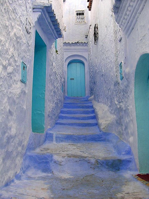 Morocco: Stairs, Morocco Travel, Blue Doors, Turquoi Blue, Colors, Greece, Places, Digital Photography, Turquoi Doors