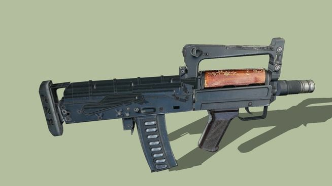 Large preview of 3D Model of OTs-14 Groza
