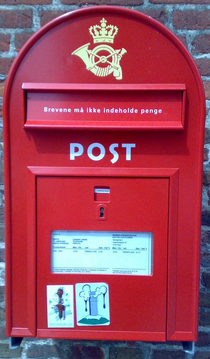 Danish Post box.