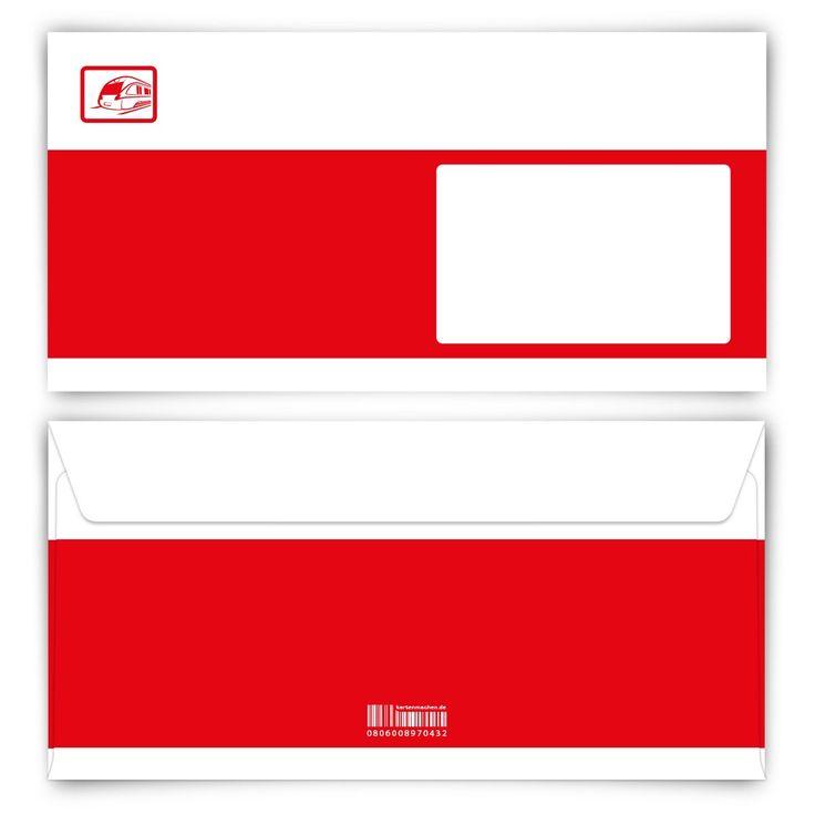 Hat da jemand 'ne Bahncard bestellt? (Briefumschlag, DIN Lang quer) #briefumschlag #kreativ #papeterie #bahncard