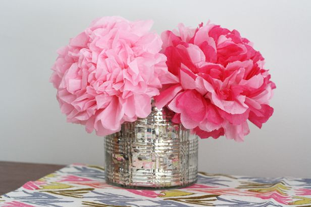 Beautiful Paper Peonies >> http://blog.diynetwork.com/maderemade/2014/03/03/paper-flower-bouquet-peony-diy/?soc=pinterest