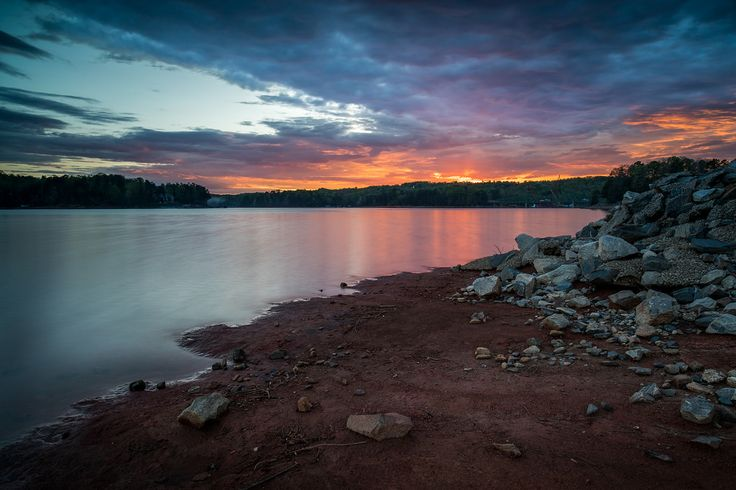 John Cothron posted a photo:  Sunset on Lake Lanier at Little Hall Park. Sunset at Little Hall Park. Little Hall Park is just west of Gainesville, GA on Lake Lanier. It's a very nice park, with a large boat dock, picnicking area, as well as a beach. At certain times of the year, it can be effectively photographed for either sunset or sunrise.  (15.0 sec at f/11)  ©John Cothron 2017, If you are interested in licensing any of my images, please feel free to contact me via email.