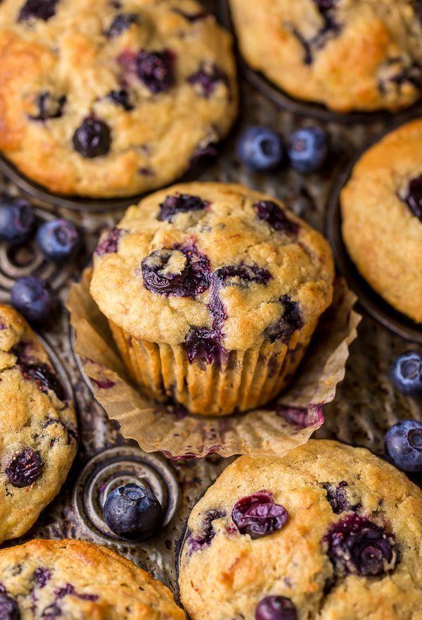 Healthy Greek Yogurt And Honey Blueberry Muffins Baker By Nature Recipe Healthy Greek Yogurt Healthy Blueberry Muffins Food