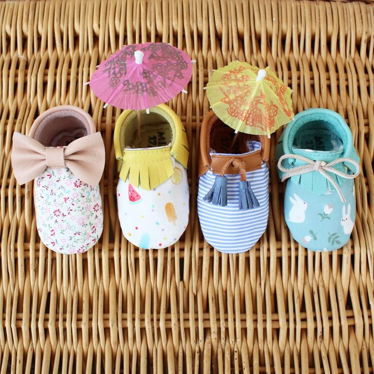SUMMER MOCCS Leather + 100% Cotton Fabric  | Baby moccs, leather moccasins, baby shoes, little fashion shoes