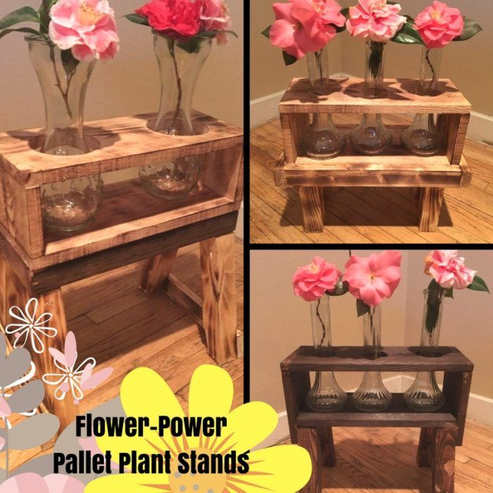 pretty pallet plant flower planters burned stained - Kopfteil Plant Holzbearbeitung