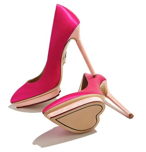 Charlotte Olympia | Look at that gorgeous heart detail at the sole! Love! <3 #CharlotteOlympia
