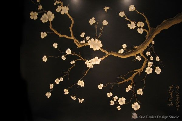 cherry blossom mural - Google Search