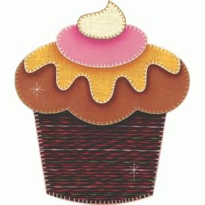 Patch collage cupcake com morango