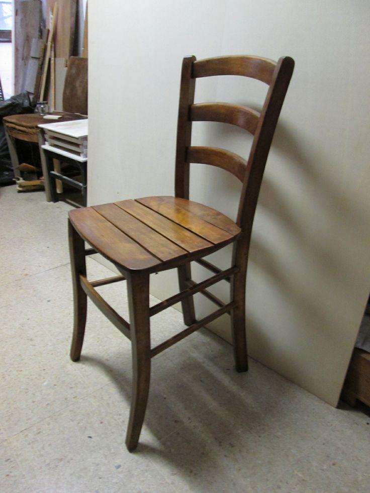 Sedia rustica restaurata