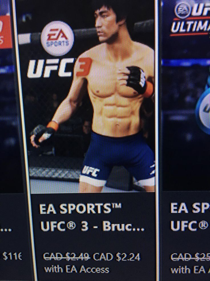 Bruce Lee was a preorder bonus in UFC 2 in UFC 3 hes day one DLC. Fuck you EA.