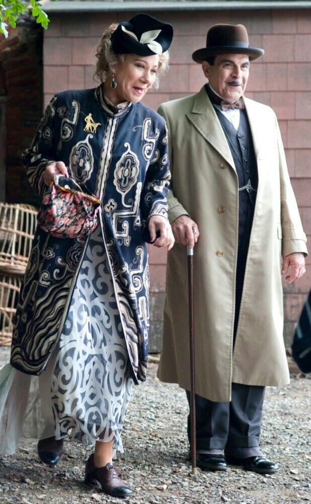 Agatha Christie. Hercule Poirot and Ariadne Oliver in, Dead man's Folly.