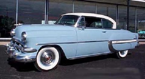 "The car we had when I was growing up, a 1953 Chevrolet Bel Air. Dad called it ""Hot Water 6"""