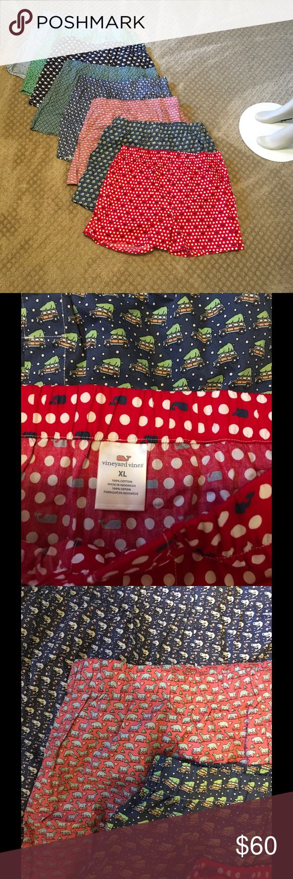 Vineyard Vines New Boxer Shorts Bundle 8 pair crisp new boxers, out of the packaging but never worn never washed, brand new condition. Vineyard Vines Underwear & Socks Boxers
