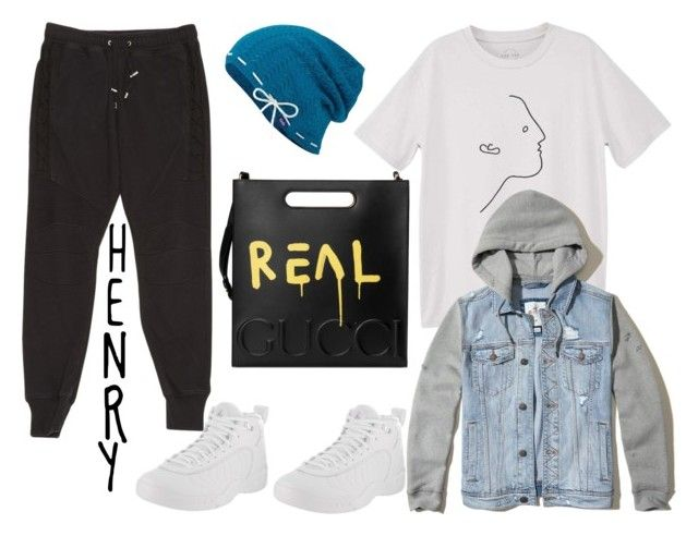 """""""lost #Henry"""" by star-starer on Polyvore featuring MANGO, Hollister Co., Balmain, Keds, NIKE, Gucci, men's fashion and menswear"""