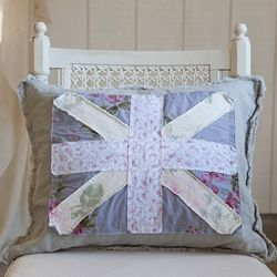 Union Jack Posey Pillow from Rachel Ashwell Shabby Chic Couture Rachel Ashwell Pinterest ...