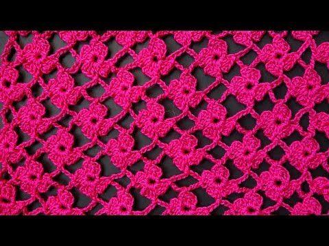 ♥ Бактус, мини-шаль с листочками / сердечками • МК Узор для вязания крючком - YouTube