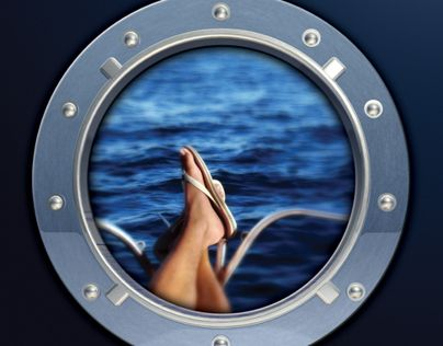 The porthole and ocean outside is what prompted me to choose this in my board.