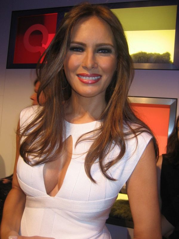 Melania Trump with Donald Trump on launching of her own business venture, a three part jewelry line. Description from thefemalecelebrity.com. I searched for this on bing.com/images