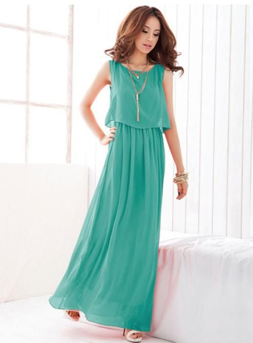 Bohemia Green Long Dress