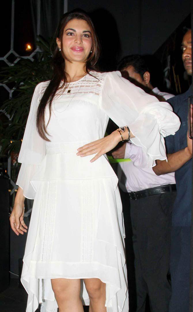 Jacqueline Fernandez at Sanjay Leela Bhansali's bash. #Bollywood #Fashion #Style #Beauty #Hot #Sexy