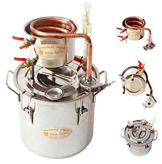 Amazon.com: DIY 3 Gal 12 Liters Home Distiller Moonshine Alcohol Still Stainless Boiler Copper Thumper Keg: Kitchen & Dining