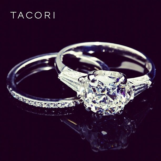 President of Tacori, Nadine Tacorian's one-of-a-kind engagement ring. These are the very first Simply Tacori rings...the inspiration for the Collection. #tacoriofficial #instagram