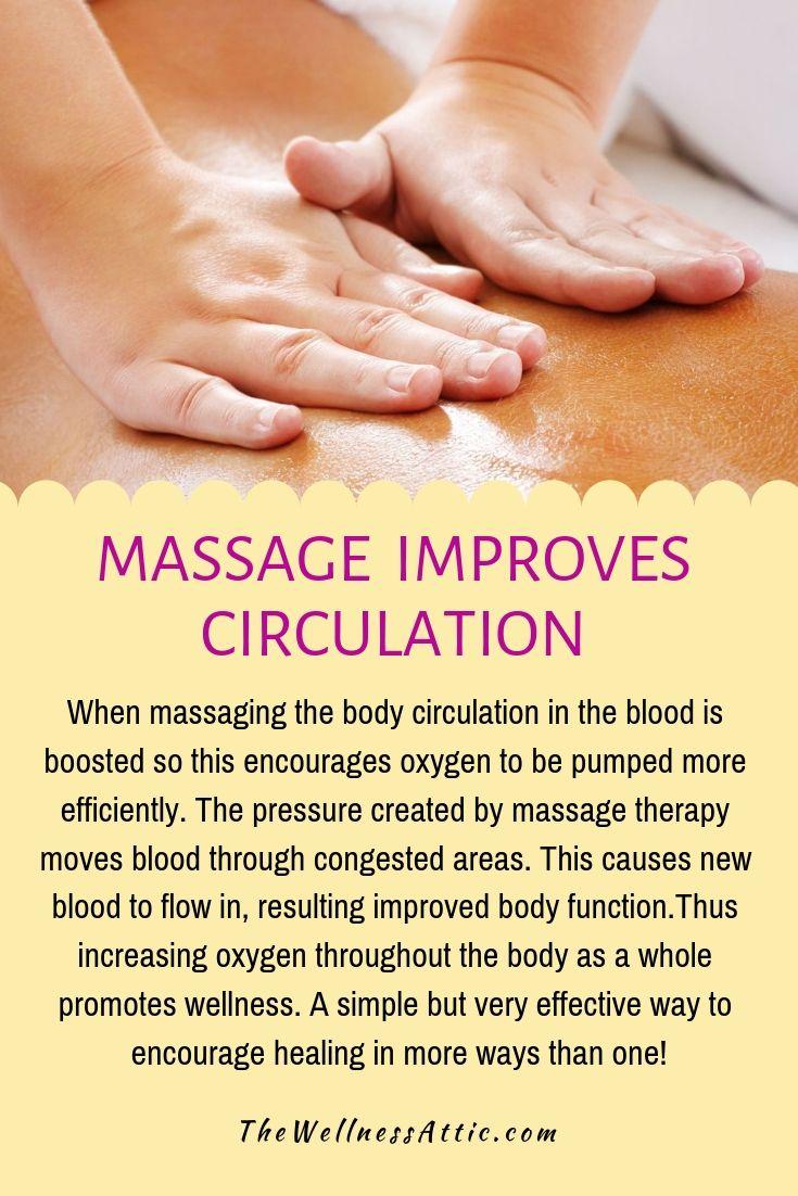 Improve Circulation Massage Therapy Massage Therapy Business Massage Therapy Quotes