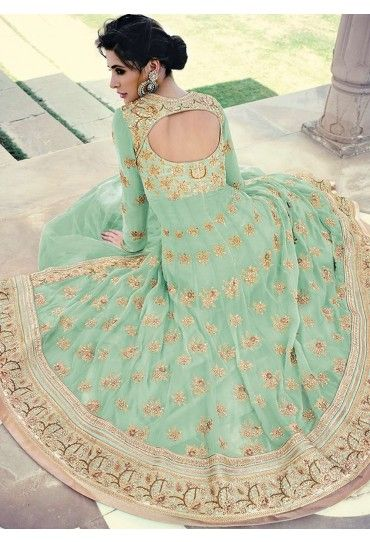 Nargis Fakhri Georgette Anarkali Style Suit with Bamberg Chiffon Dupatta #nargisfakri