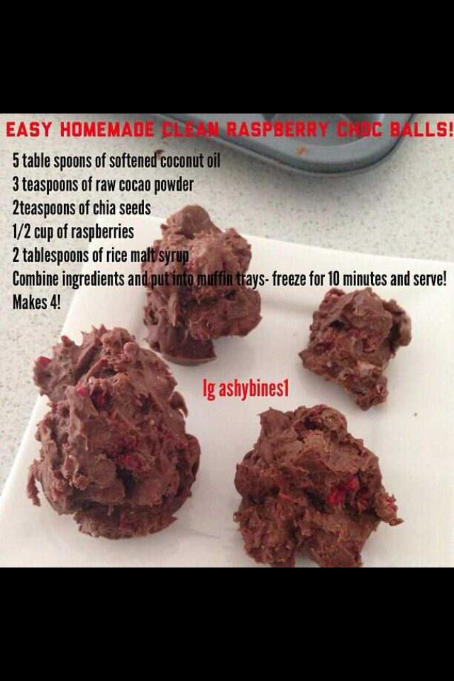Ashy Bines clean eating chocolate balls