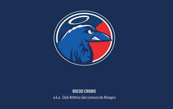 Escudos de equipos argentinos al estilo yanqui