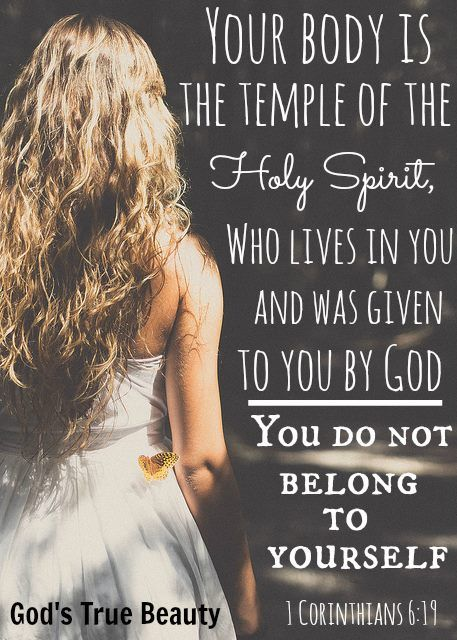 Don't you know that you yourselves are God's temple and that God's Spirit dwells in your midst. ~ 1 Corinthians 3:16